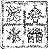 Tinchies Mini Clear Stamps - Christmas Squares - PICST013